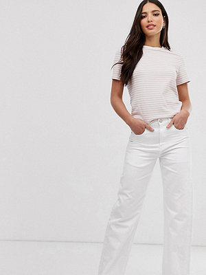 Asos Tall Authentic Dad Optiskt vita jeans