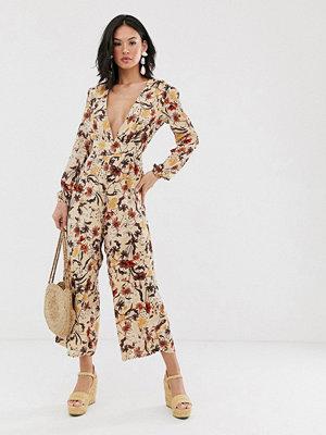 Glamorous Jumpsuit med höstligt blommönster