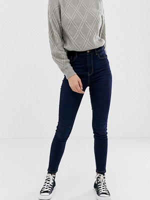 Pimkie Indigoblå skinny jeans med hög midja