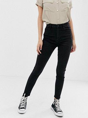 Jeans - Pimkie Svarta skinny jeans med hög midja