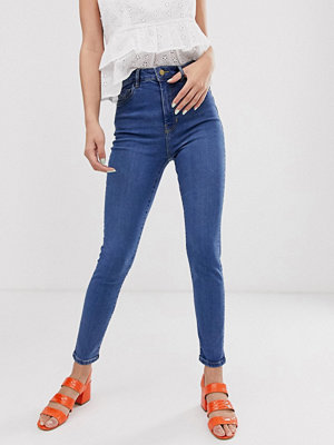 Jeans - Pimkie Mellanblå skinny jeans med hög midja