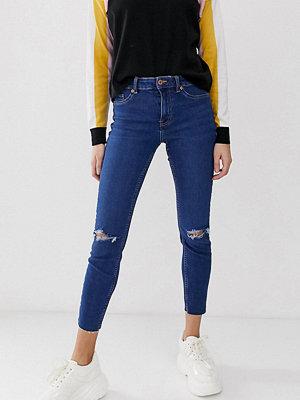 New Look Mellanblå skinny jeans med revor Mellanblå