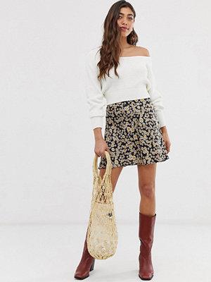 Free People Phoebe Blommig kjol Svart kombination
