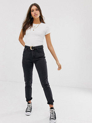 New Look Bleksvarta mom jeans