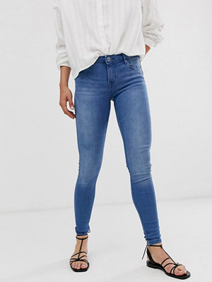 Jeans - Only Allan Skinny jeans med regular fit och push up Blå denim