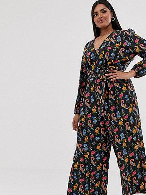 Glamorous Curve Jumpsuit med knytning framtill