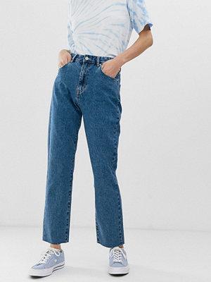 Pull&Bear Rigid Mörkblå mom jeans