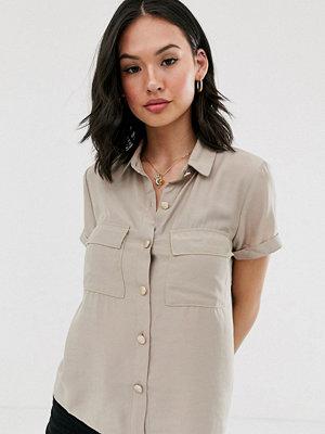 Pimkie Beige cargoskjorta med fickor framtill