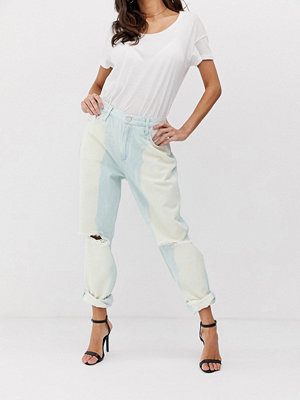 Jeans - French Connection Gaucho boyfriendjeans i 90-tals stil Ripped tie dye