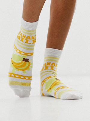 ASOS DESIGN Banana milk Ankelstrumpor