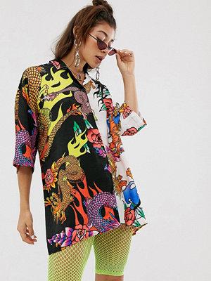 Toppar - Jaded London Skjorta med blandade mönster och draktryck