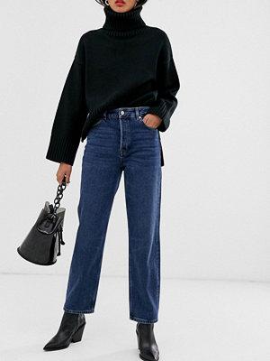 Selected Femme Blå jeans med hög midja och raka ben
