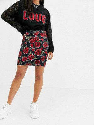 Love Moschino Rosmönstrad kjol 0006 roses