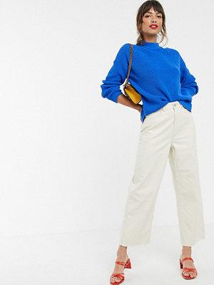 Vero Moda Gräddvita ankellånga jeans med vida ben