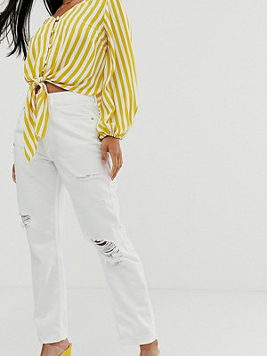 River Island Petite Vita jeans i mom-modell med revor