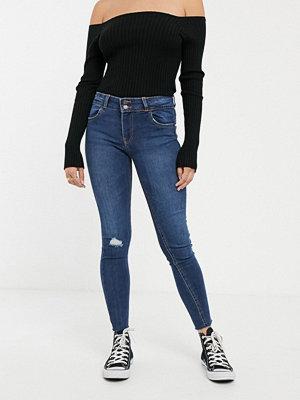 Bershka Mörkblå pushup-jeans