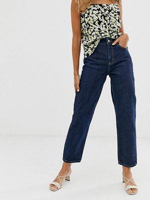 & Other Stories Mörkblå straight leg jeans Blå denim