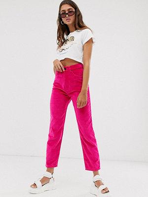Fiorucci Tara Jeans med sammet med raka ben Varmrosa