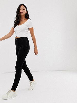 New Look Svarta superskinny jeans med hög midja