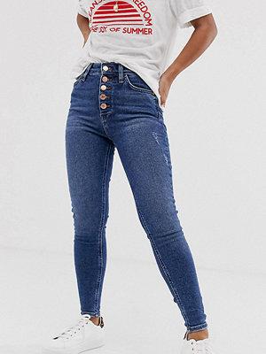 River Island Petite Skinny jeans i mörk tvätt Mörk färg