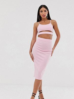Fashionkilla Tall Going Out Rosa midikjol Rose