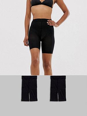 ASOS DESIGN 2-pack svarta shorts med anti-skav