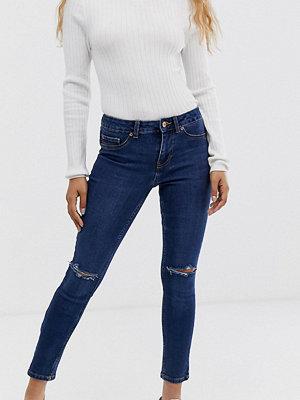 New Look Petite Blå skinny jeans med revor