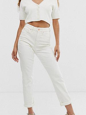 New Look Petite Naturvita jeans med markerad midja Vit