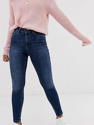 Vero Moda Petite Shape up Mörkblå skinny jeans med
