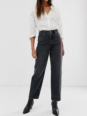 Selected Femme Grå jeans med hög midja och raka ben