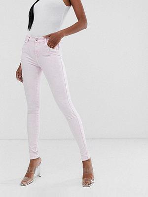 Replay Rosa blekta skinny jeans med hög midja Rosa