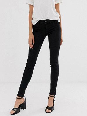 Jdy Svarta skinny jeans Svart jeans-tyg