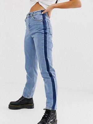 Noisy May Blå jeans med raka ben Mellanblå