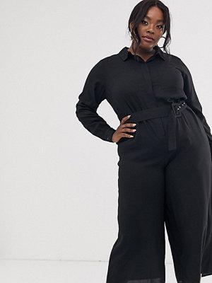 ASOS Curve Skjortjumpsuit med skärp och culotteben