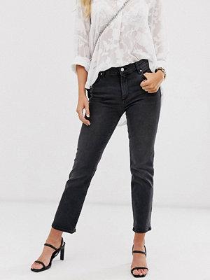 Mango Grå jeans med bekväm stretch och raka ben