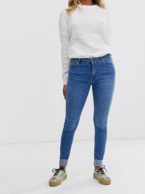 Pimkie Blå skinny jeans med nitar