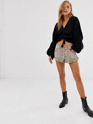 Shorts & kortbyxor - One Teaspoon Bandits Leopardmönstrade jeansshorts Leopard