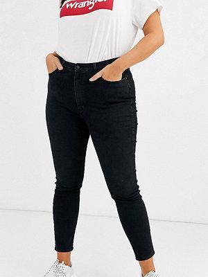 Wrangler Plus Skinny jeans med hög midja Stretch limo