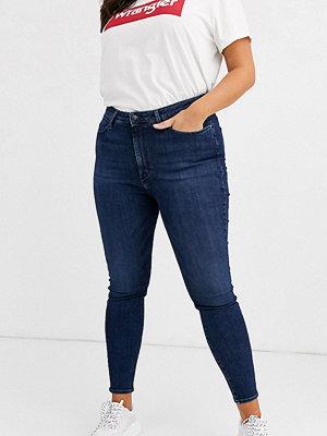 Wrangler Plus Skinny jeans med hög midja Stretch dark