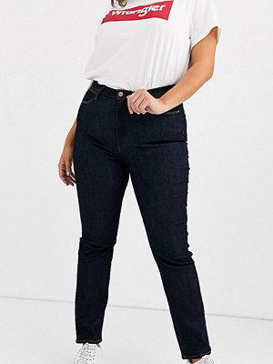 Wrangler Plus Straight jeans med mellanhög midja Sköljtvätt