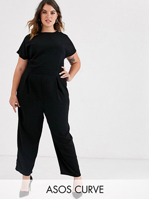 ASOS Curve Jumpsuit med plisserat liv