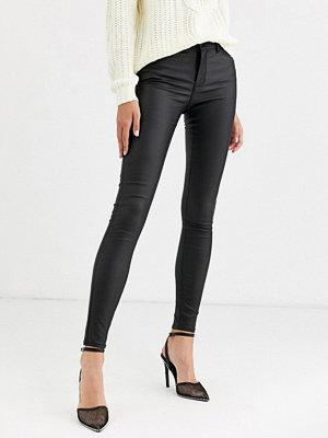 Vero Moda Svarta skinny jeans med beläggning