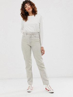 ASOS DESIGN Ritson Stentvättade mom jeans Sandfärgad