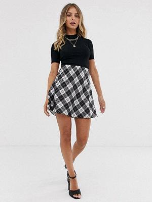 Miss Selfridge Rutig a-linjeformad minikjol