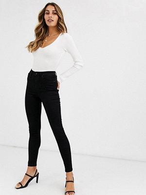 Vero Moda Svarta skinny jeans med hög midja