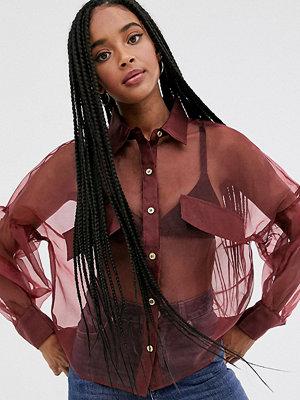 Skjortor - Wild Honey Skir skjorta med ballongärmar Rose