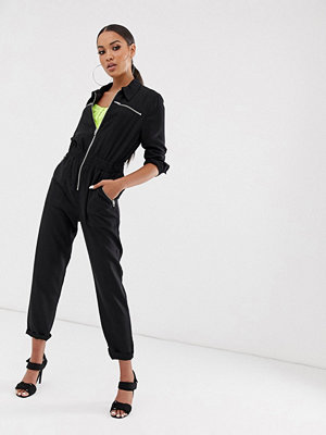 Jumpsuits & playsuits - Blank NYC Overall med dragkedja framtill Black out (black)