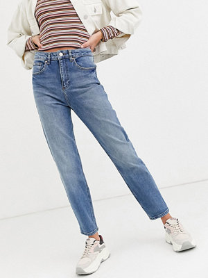 Miss Selfridge Mellanblå mom jeans