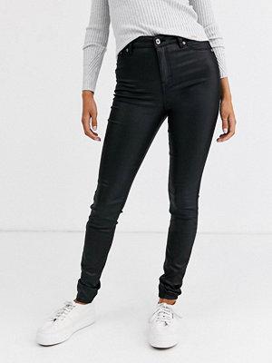 Superdry Sophia Ytbehandlade skinny jeans Waxed black