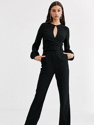 Jumpsuits & playsuits - Fashion Union Tall Jumpsuit i sammet med nyckelhålsöppning